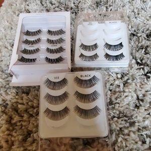 Fake glue on lashes eyelashes ardell kiss